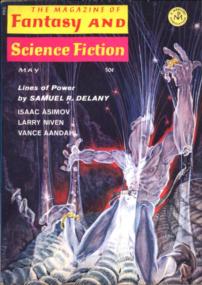 Cover of the Magazine of Fantasy and Science Fiction containing Lines of Power