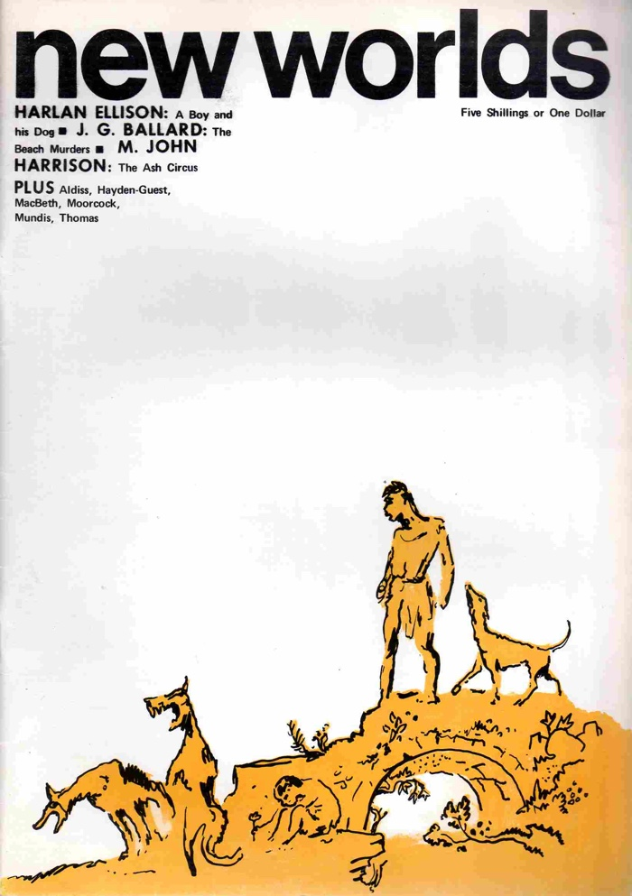 Cover of the issue of New Worlds containing A Boy and His Dog