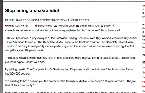 Stop being a chakra idiot.