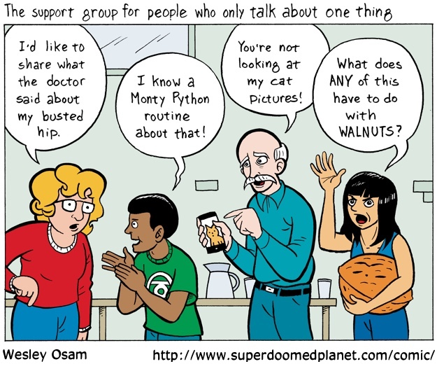 Cartoon--Support Group