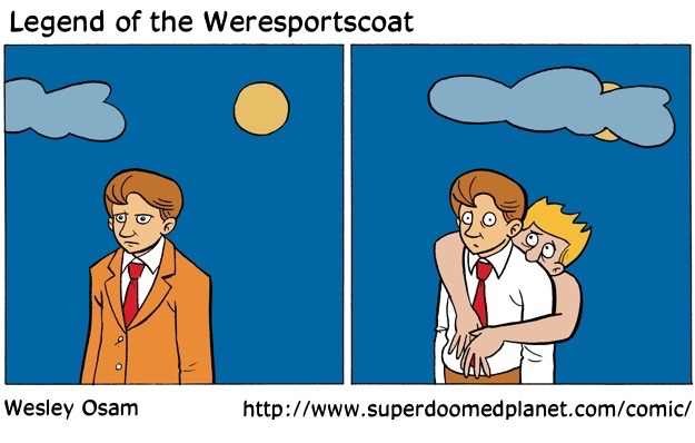 Cartoon--Legend of the Weresportscoat